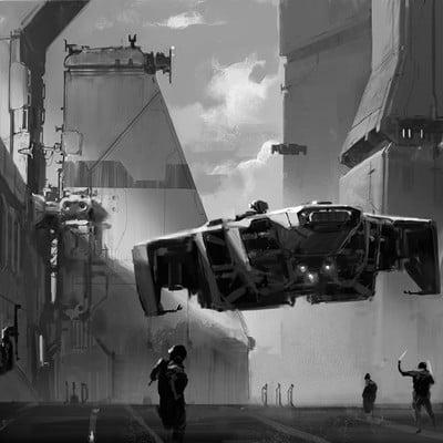 Martin deschambault p77 sketch landing