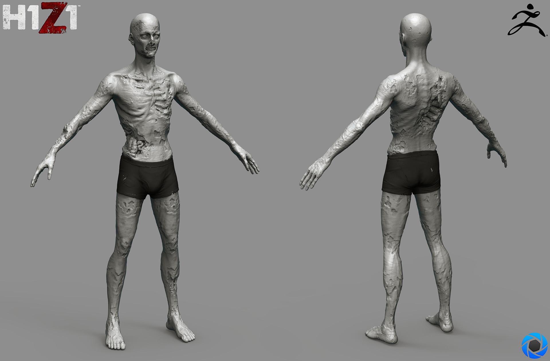 Satoshi arakawa zombie male body sculpt