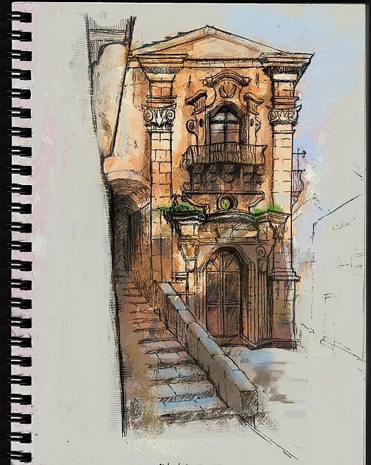 Life drawing- Ragusa, Sicily