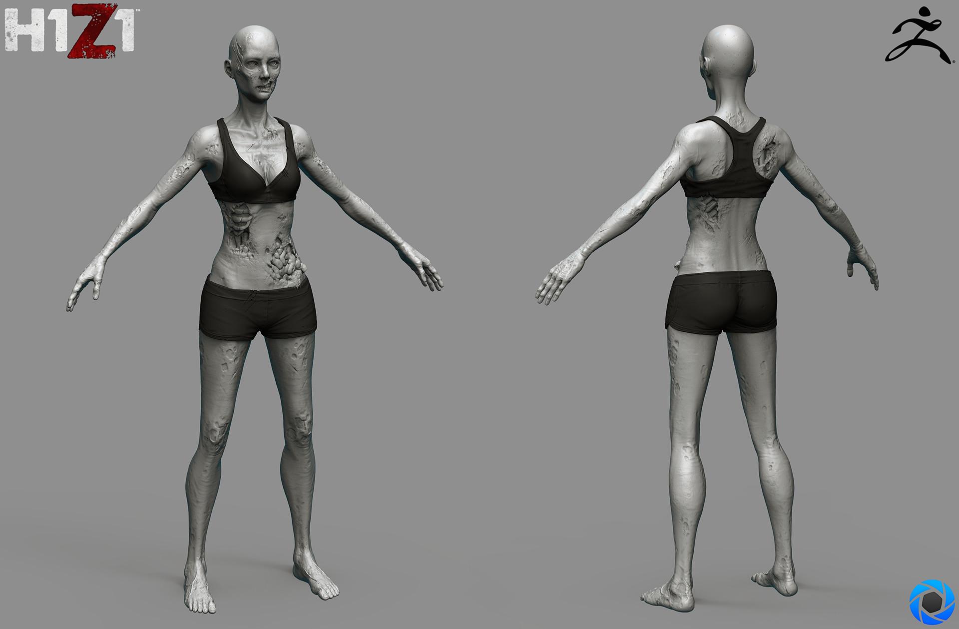 Satoshi arakawa zombie female body sculpt