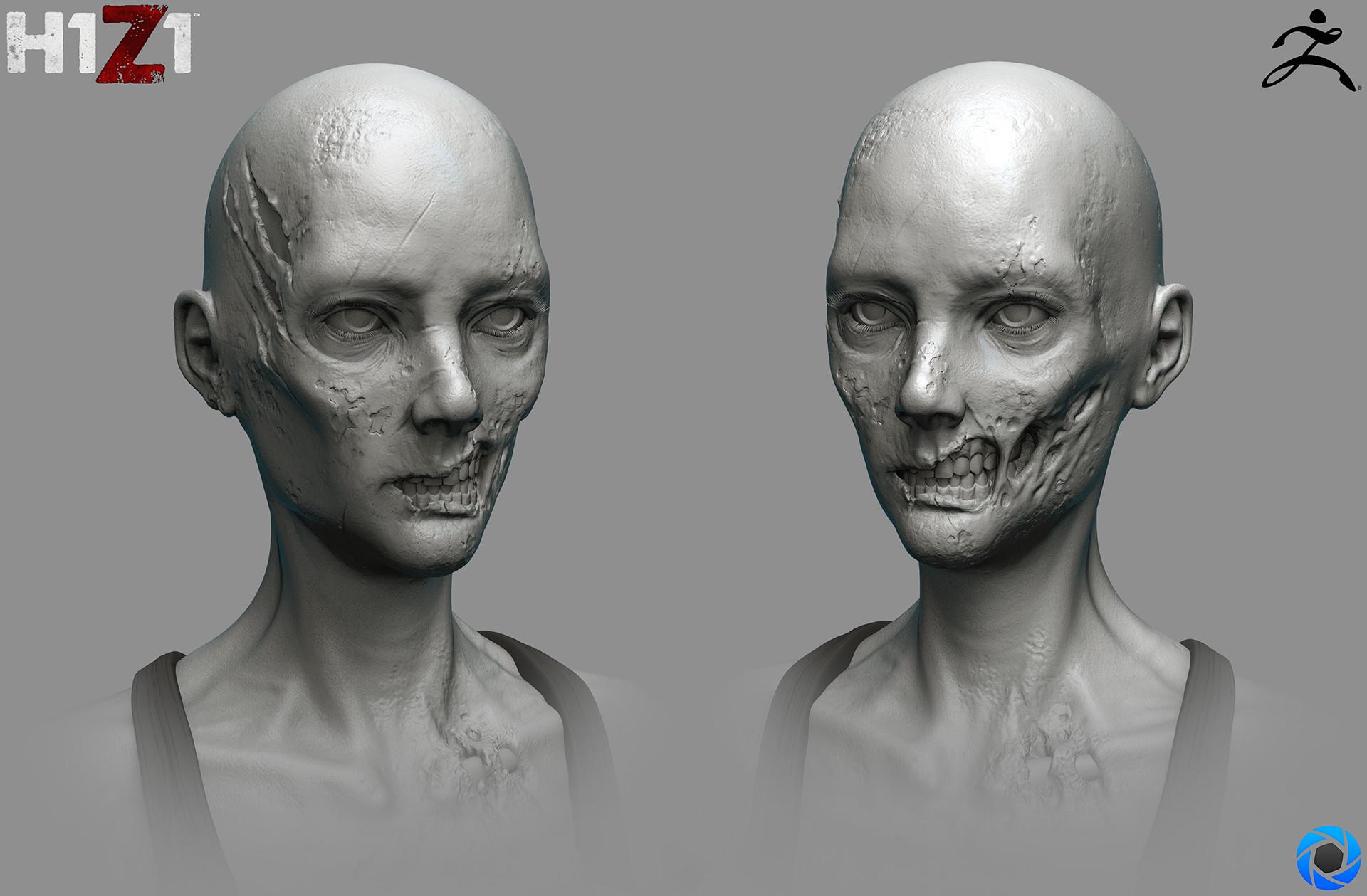 Satoshi arakawa zombie female hex 01 sculpt