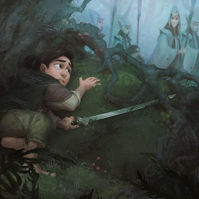 Vanessa palmer vaanm digitalpainting hobbit murkwood ver8sm2