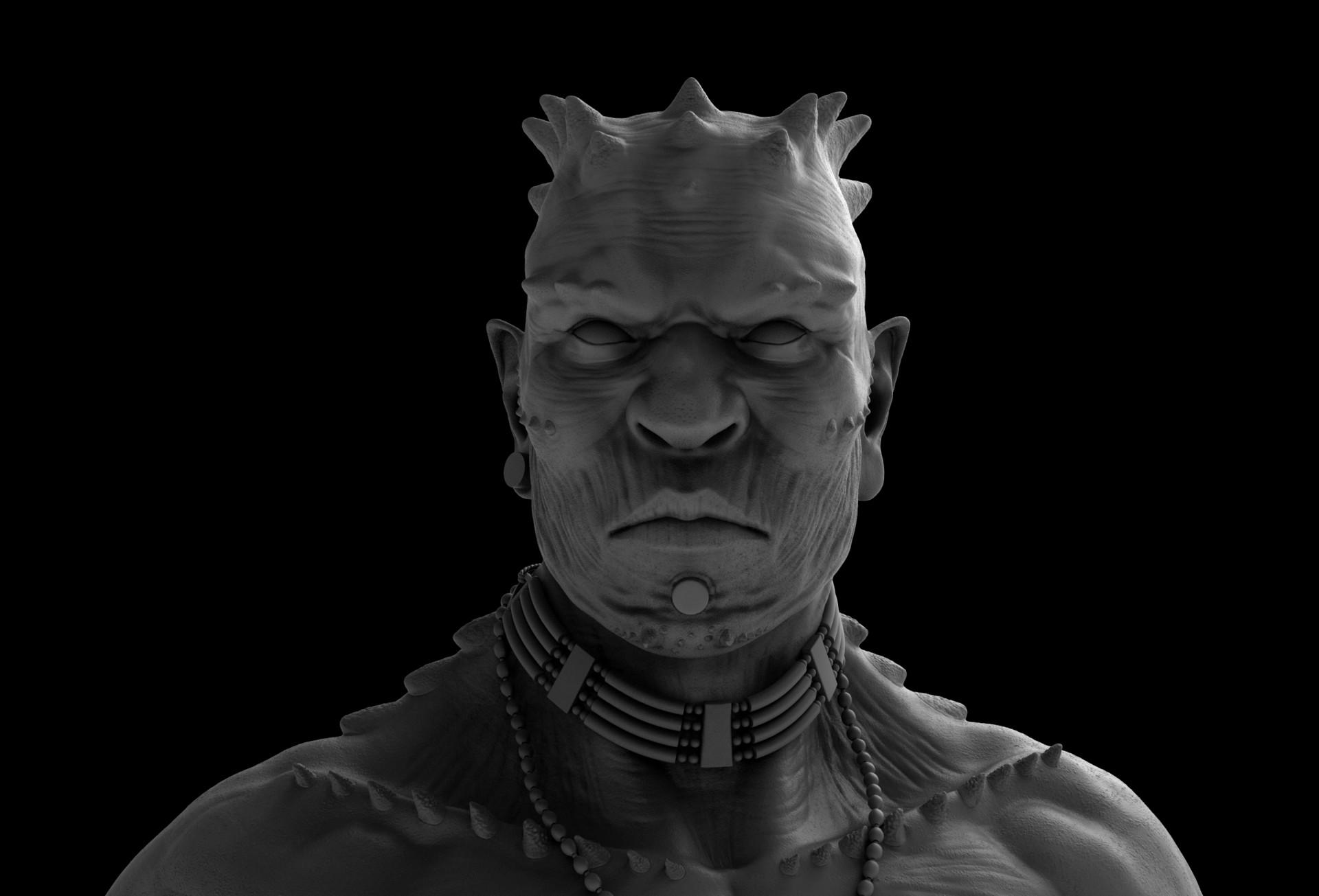 Face, clay