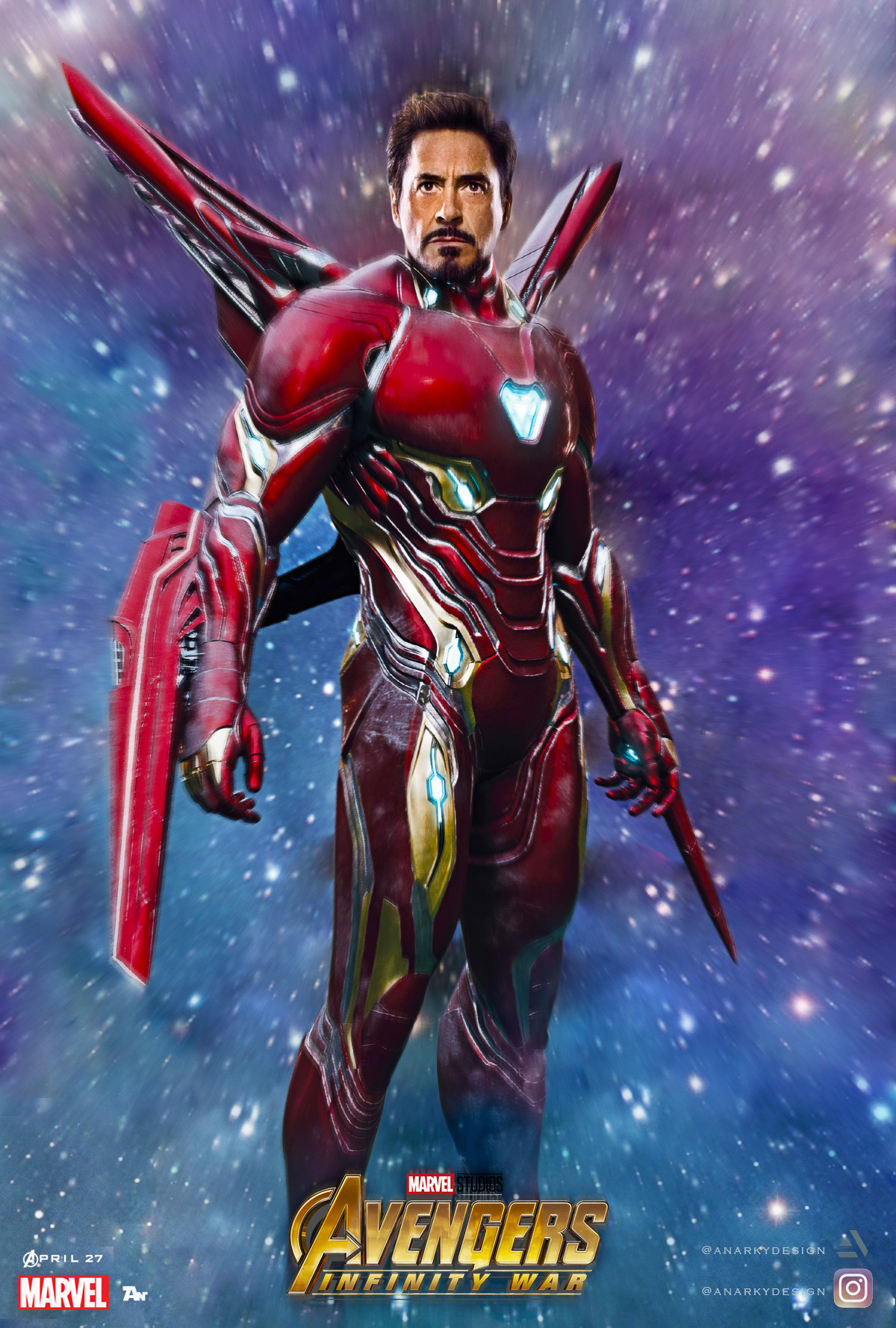 Artstation Iron Man Avengers Infinity War Textless Version