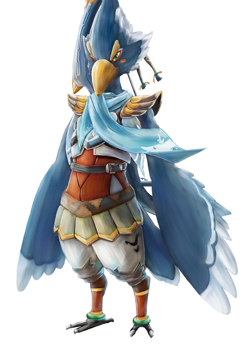 Artstation Zelda Breath Of The Wild Revali The Rito Champion