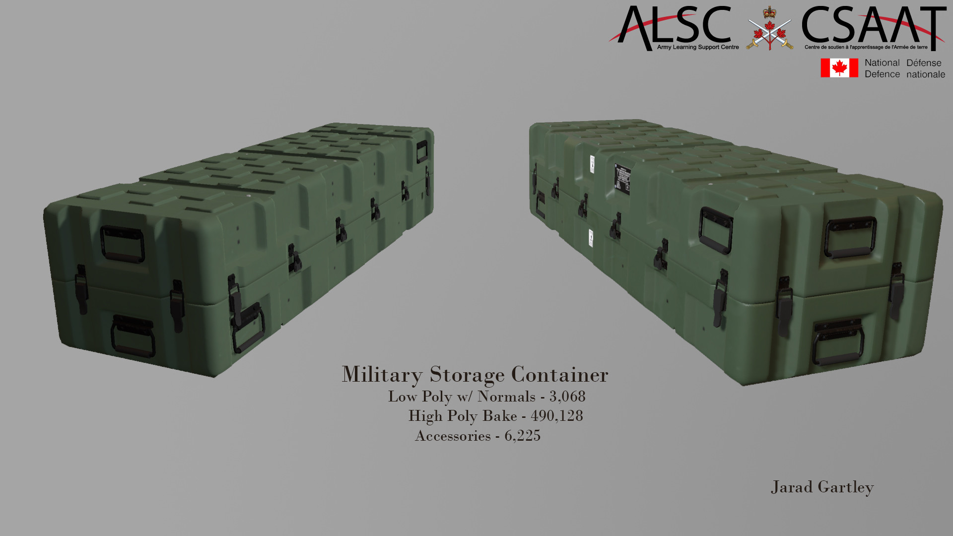 Jarad Gartley Military Containers Game Model