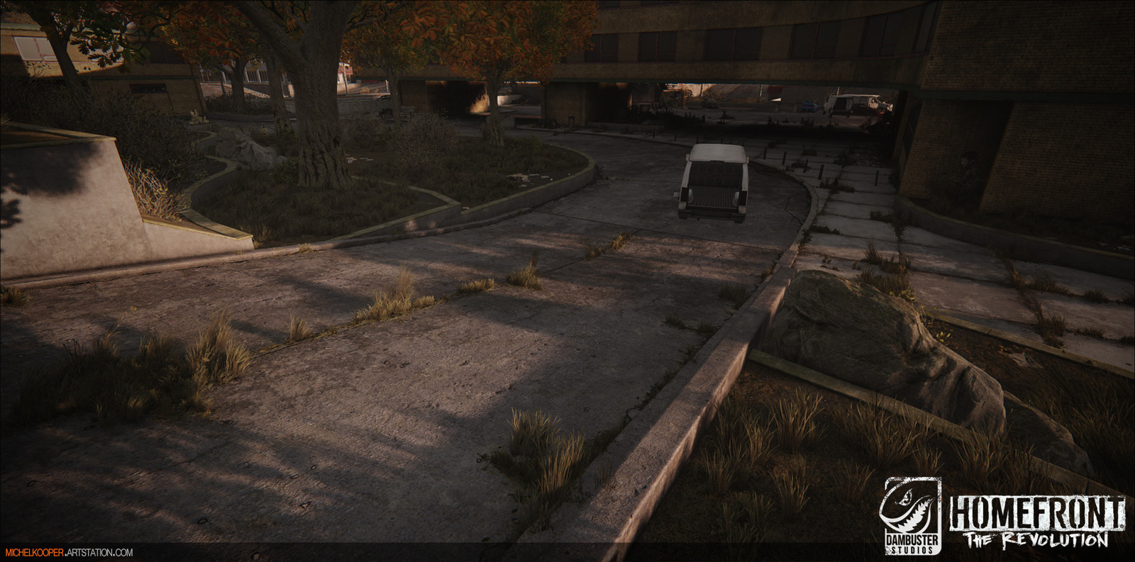 driveway/planters & Level art