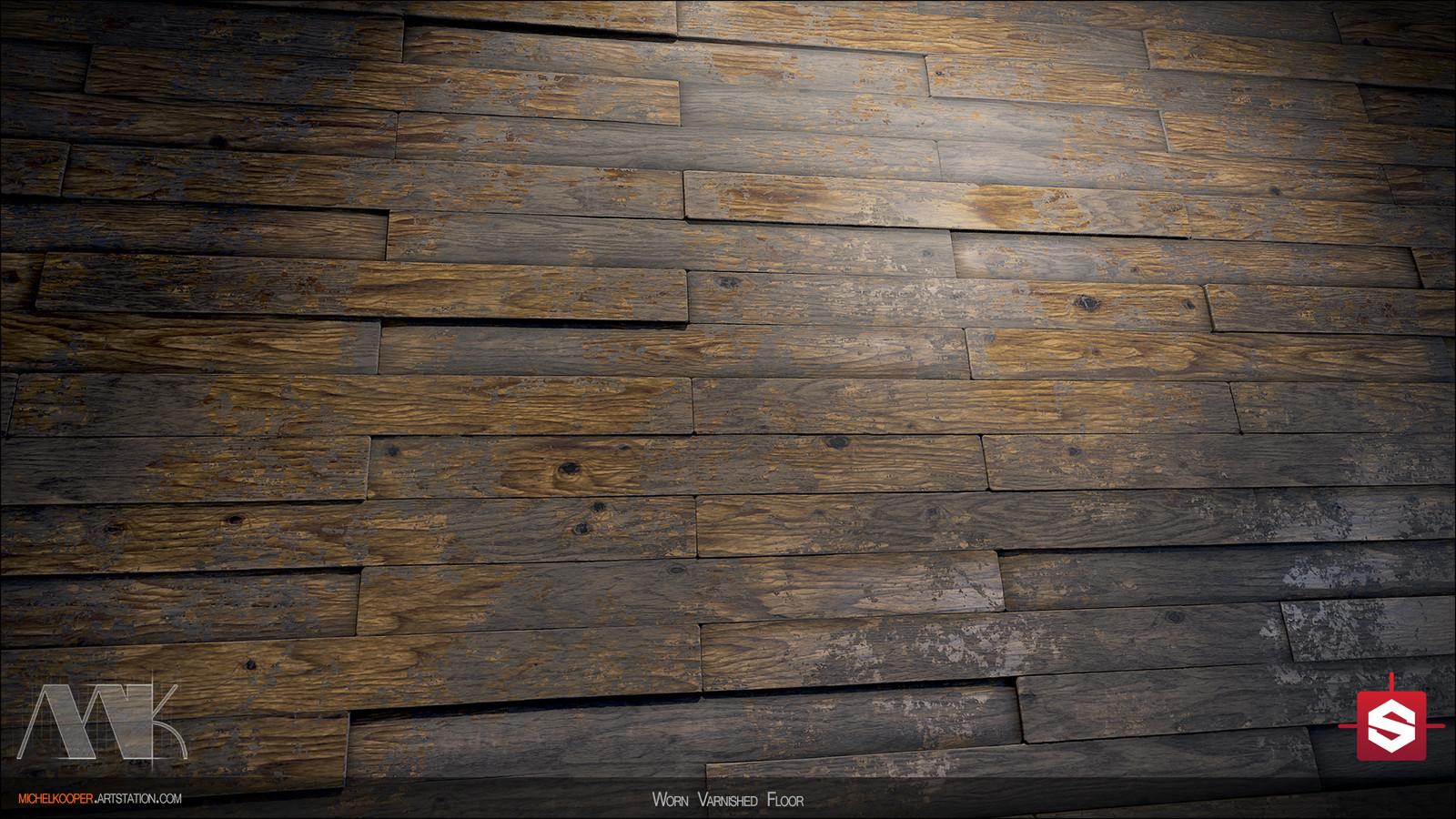 Worn Varnished Floor - Close up