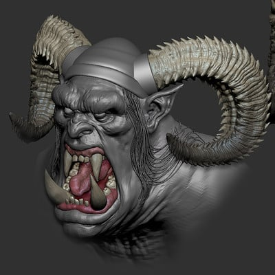 Orc WIP based off Johan grenier