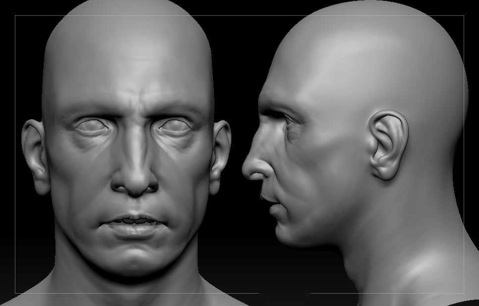 The early stages of the sculpt