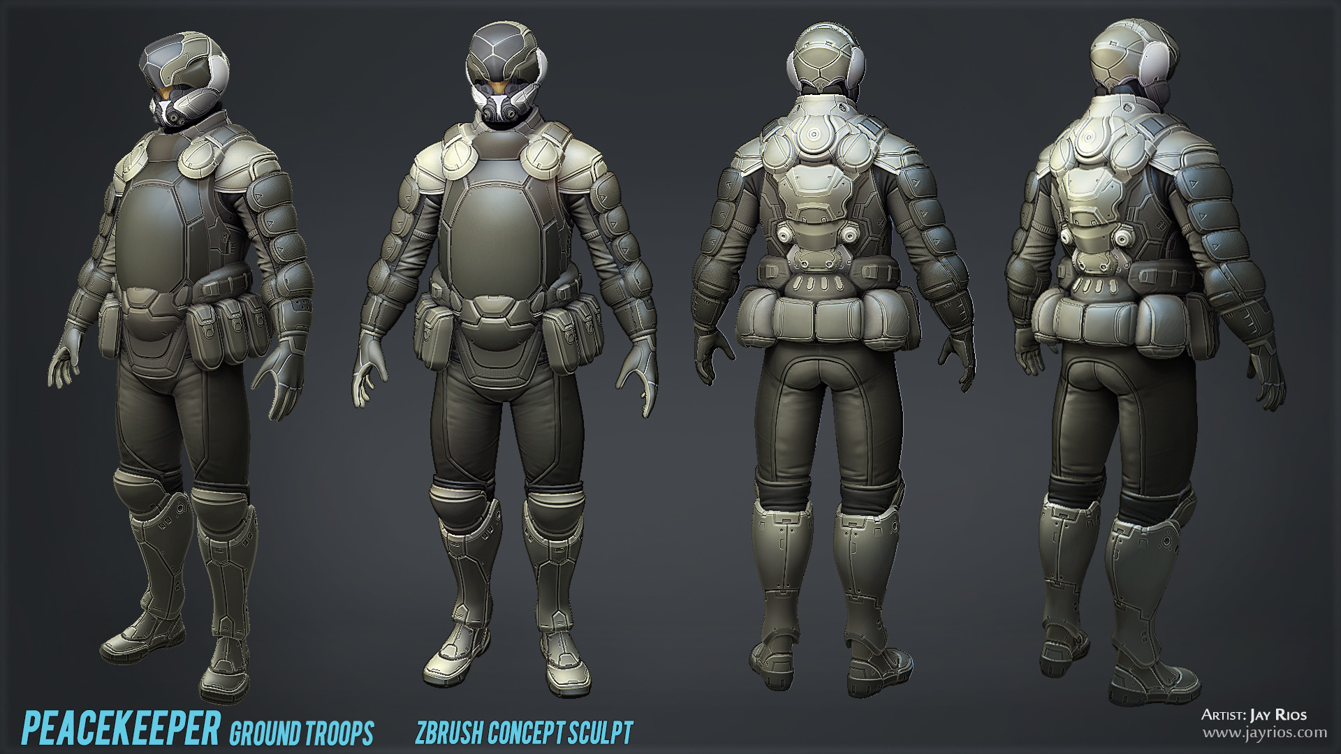 Personal project.  3D concepted and sculpted in ZBrush.  Alpha details created in 3ds Max.