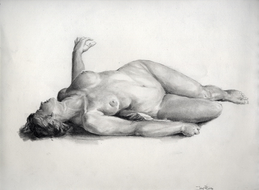 Charcoal, master copy after Charles Gleyre.