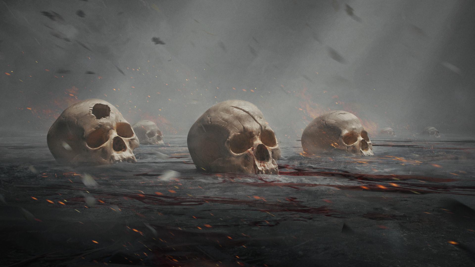 Patrik rosander skulls wallpaper 4k