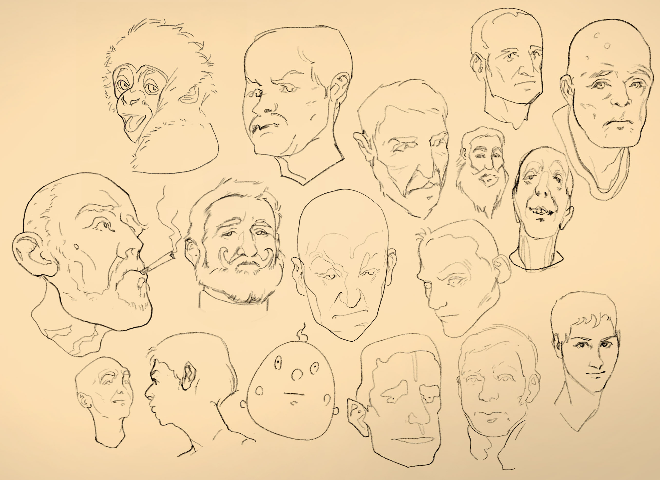 Doodly heads