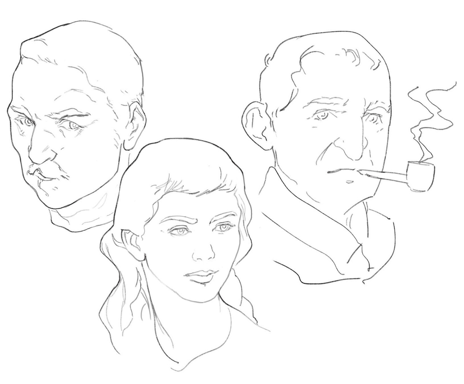 "Some heads while listening to ""Maigret"" audiobooks"
