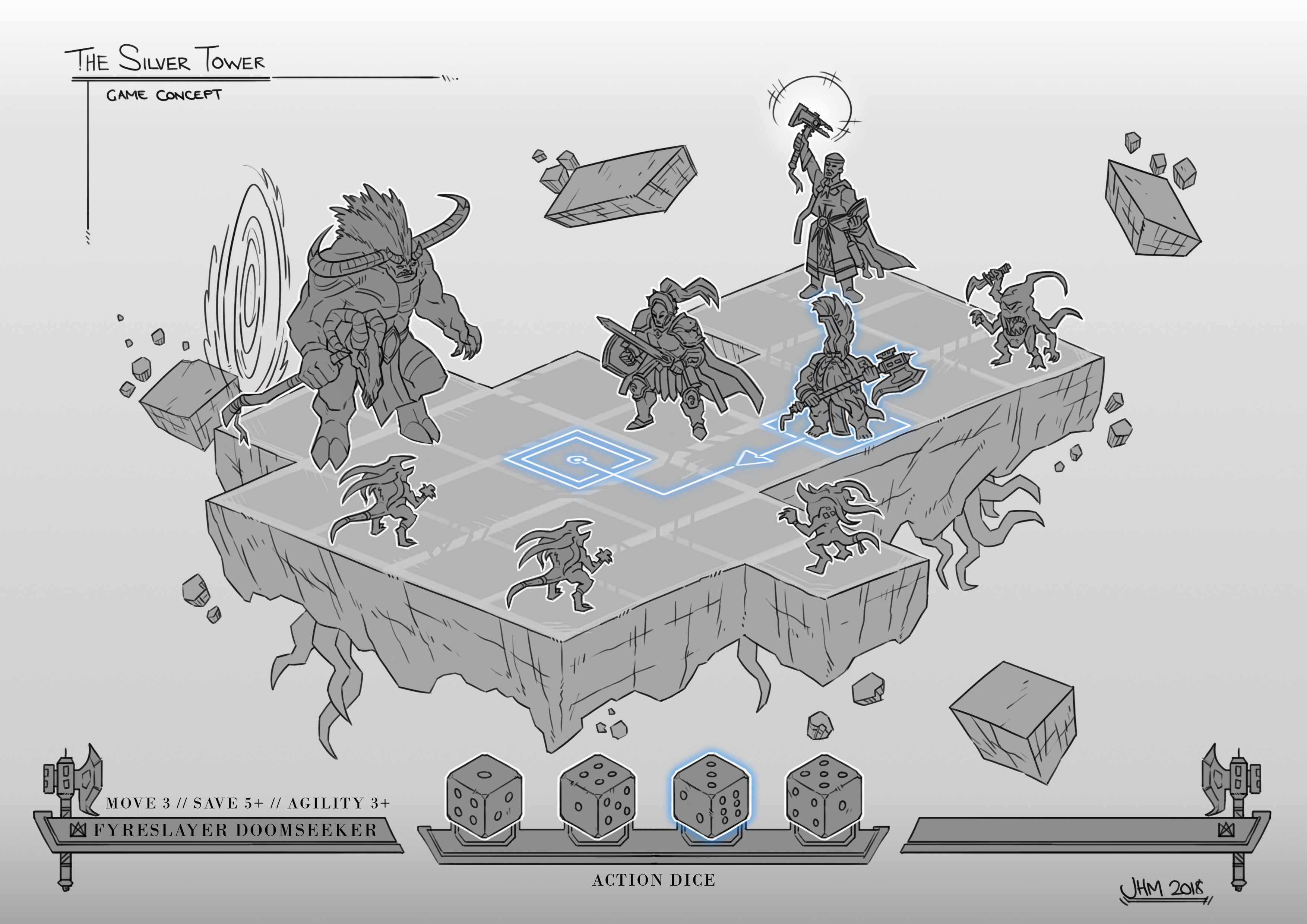 The Silver Tower - Game Concept