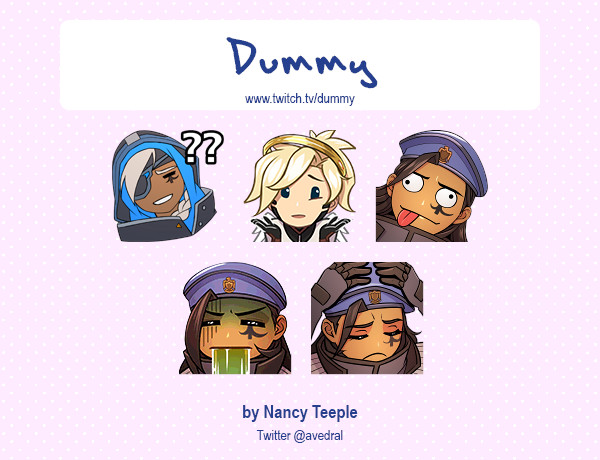 ArtStation - Twitch Emotes & Badges, Nancy Teeple