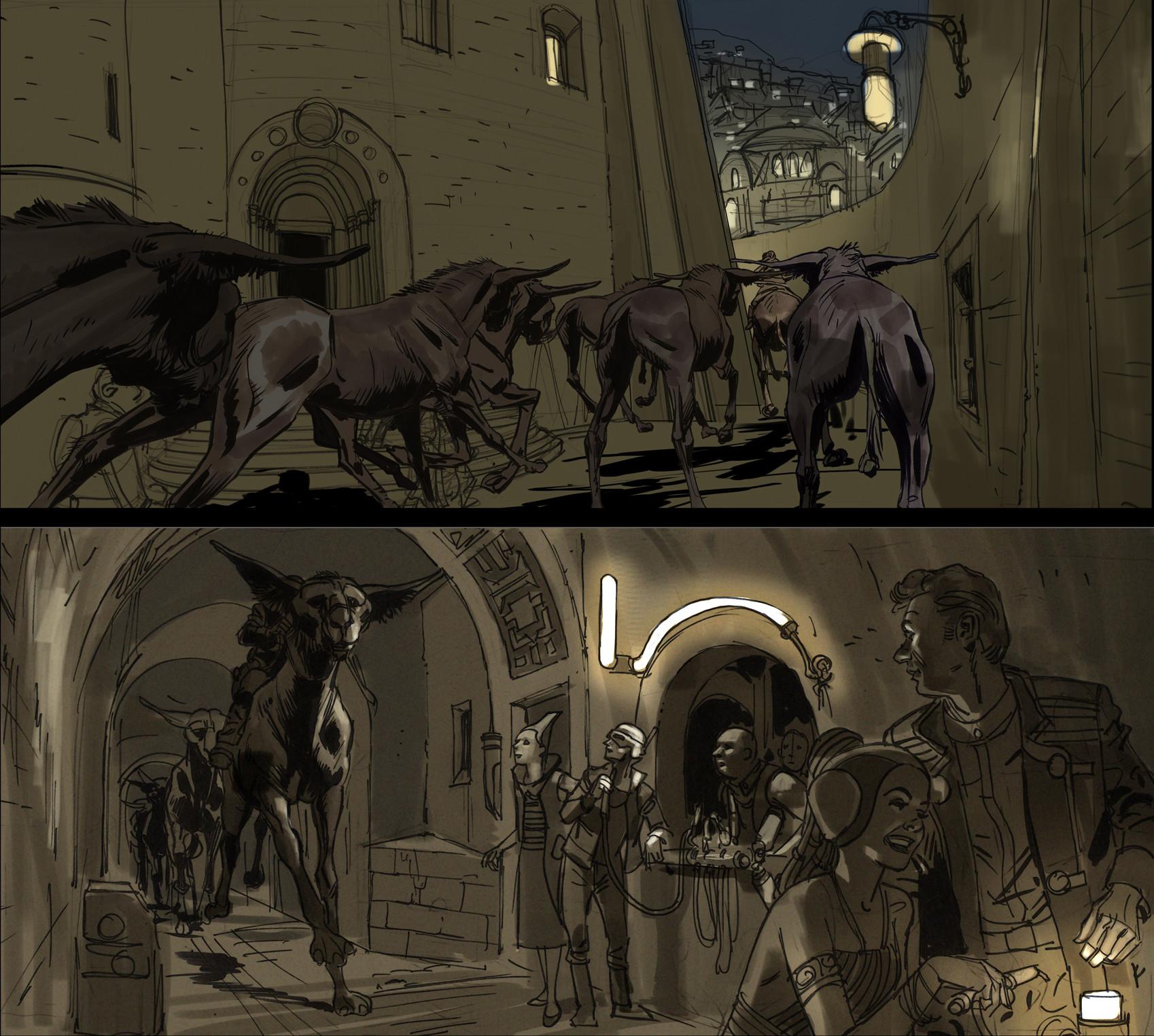 Rodolfo damaggio arch corridor art