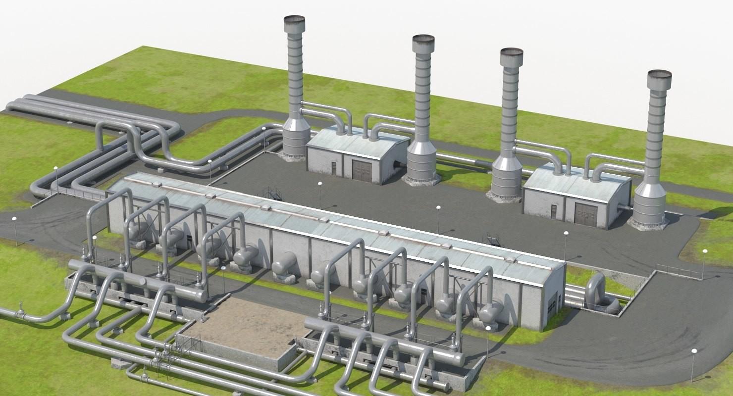 Artstation Geothermal Power Plant 3d Model Andrey Simonenko Block Diagram Scroll To See More