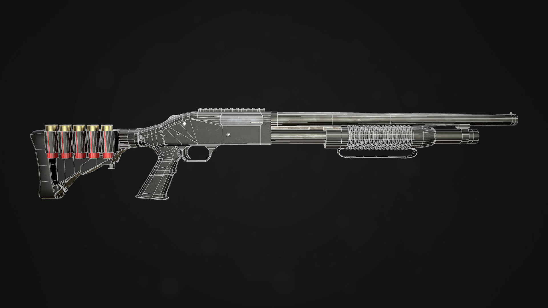 Shotgun Wireframe