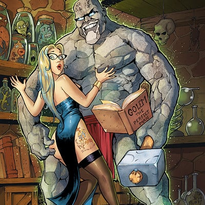 Serge fiedos judy and lars the beauty and the golem commish by serge fiedos