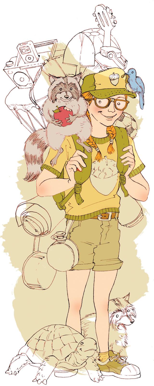 Acorn girl