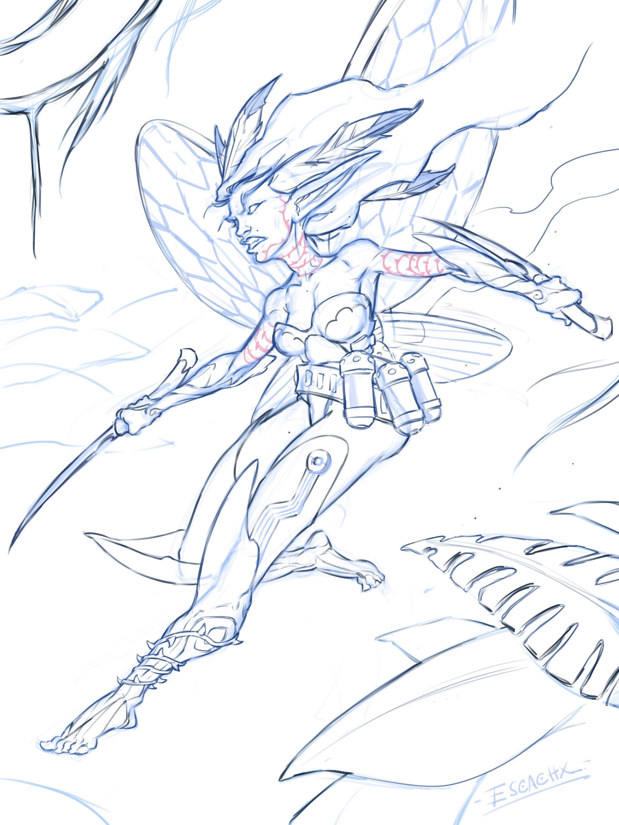 Sketch in Procreate