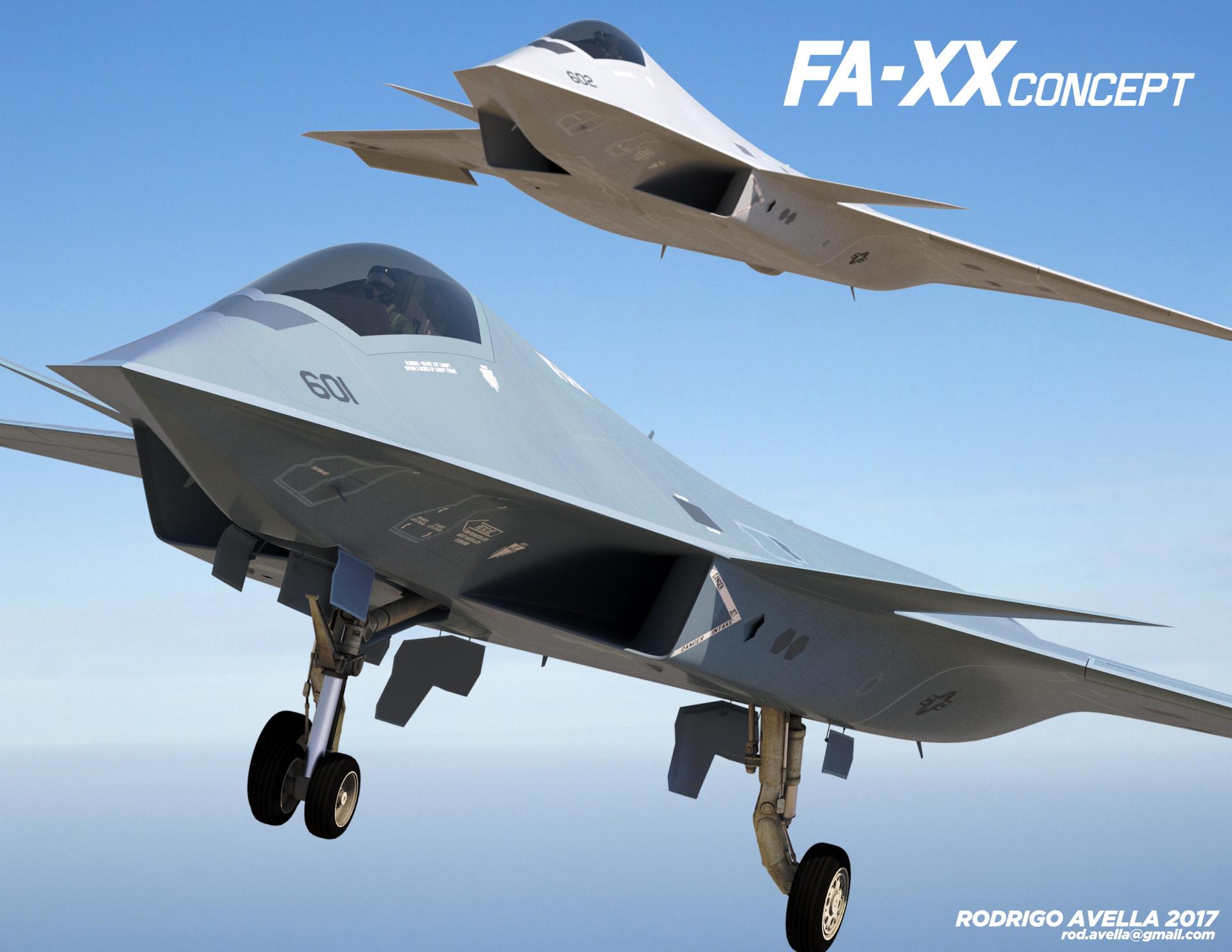 ArtStation - Sixth Generation F/A-XX Fighter, Rodrigo Avella