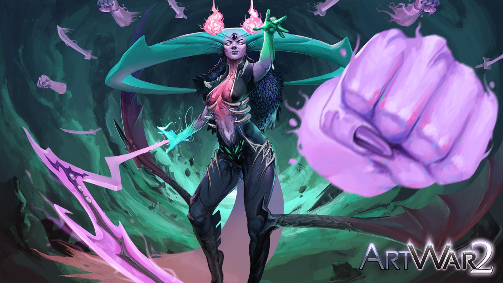 Dark BattleMage -ArtWar 2 Illustration