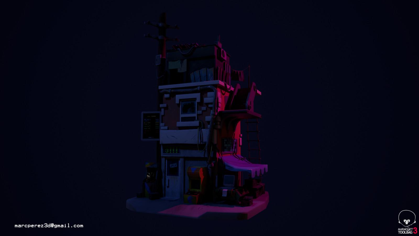 Night version without emissive lights