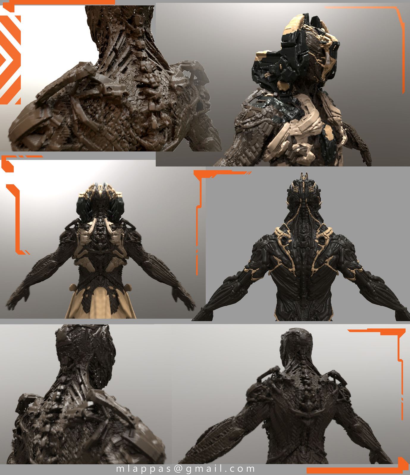 3D scifi Character Concepts