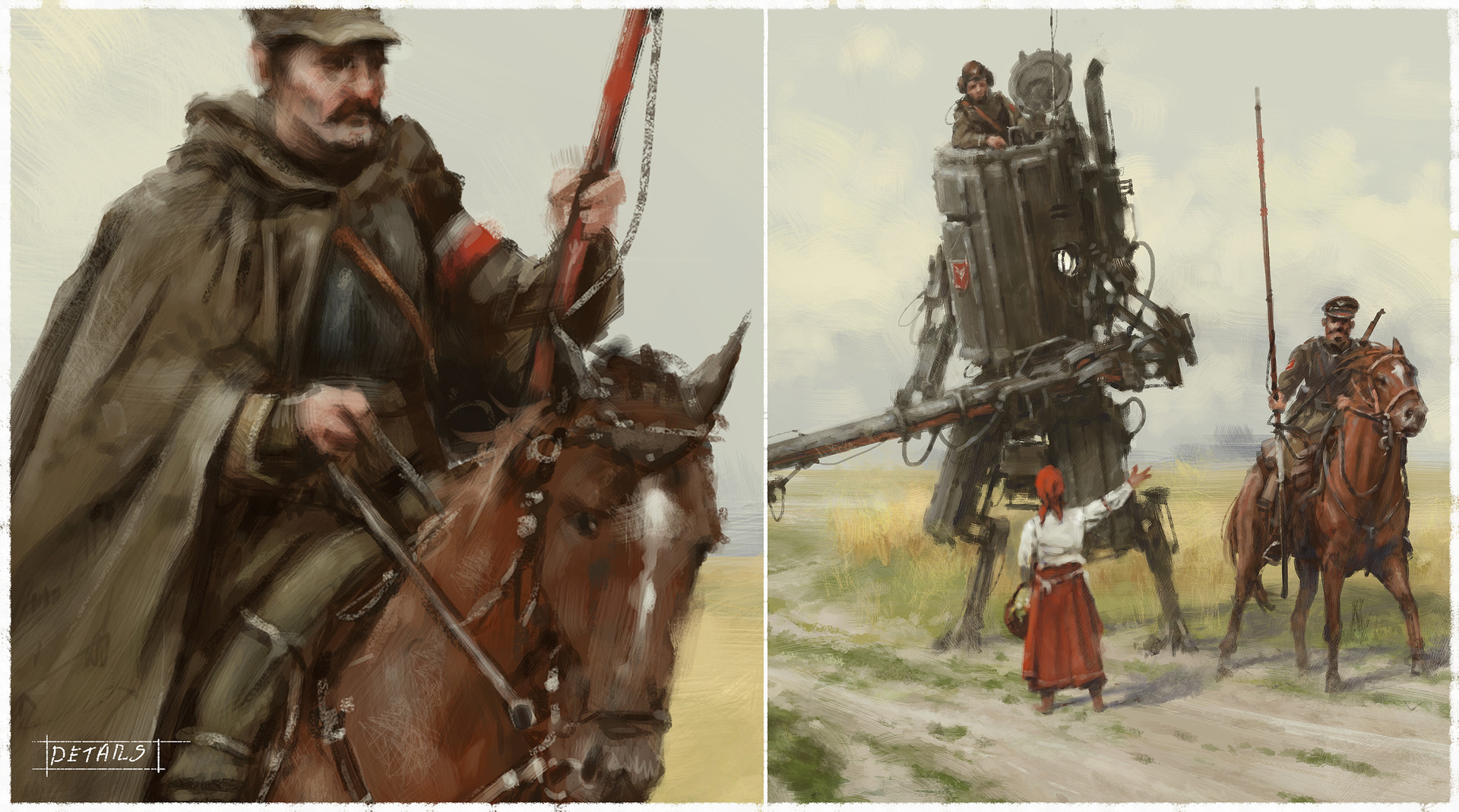 Jakub rozalski 1920 polanian lancers on the patrol p2
