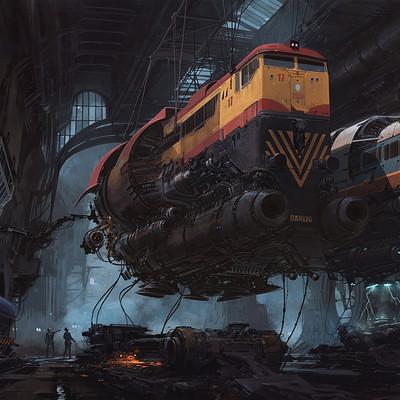 Alejandro burdisio escenario tunel locomotoras concept