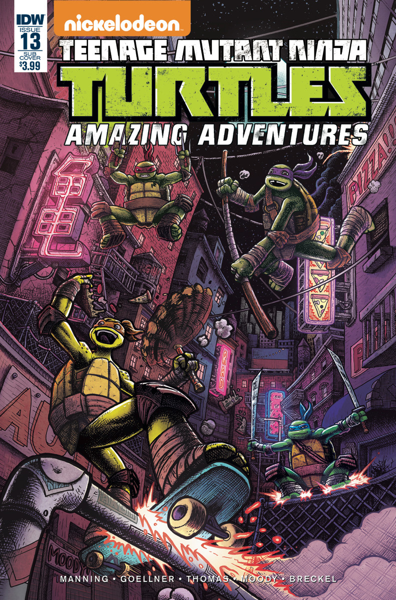 TMNT Amazing Adventures #13 cover, with cover dressing.