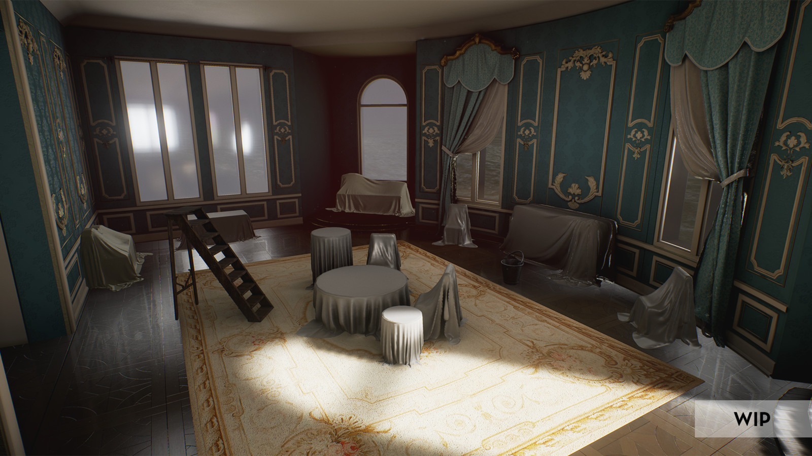Rococo Sitting Room -WIP