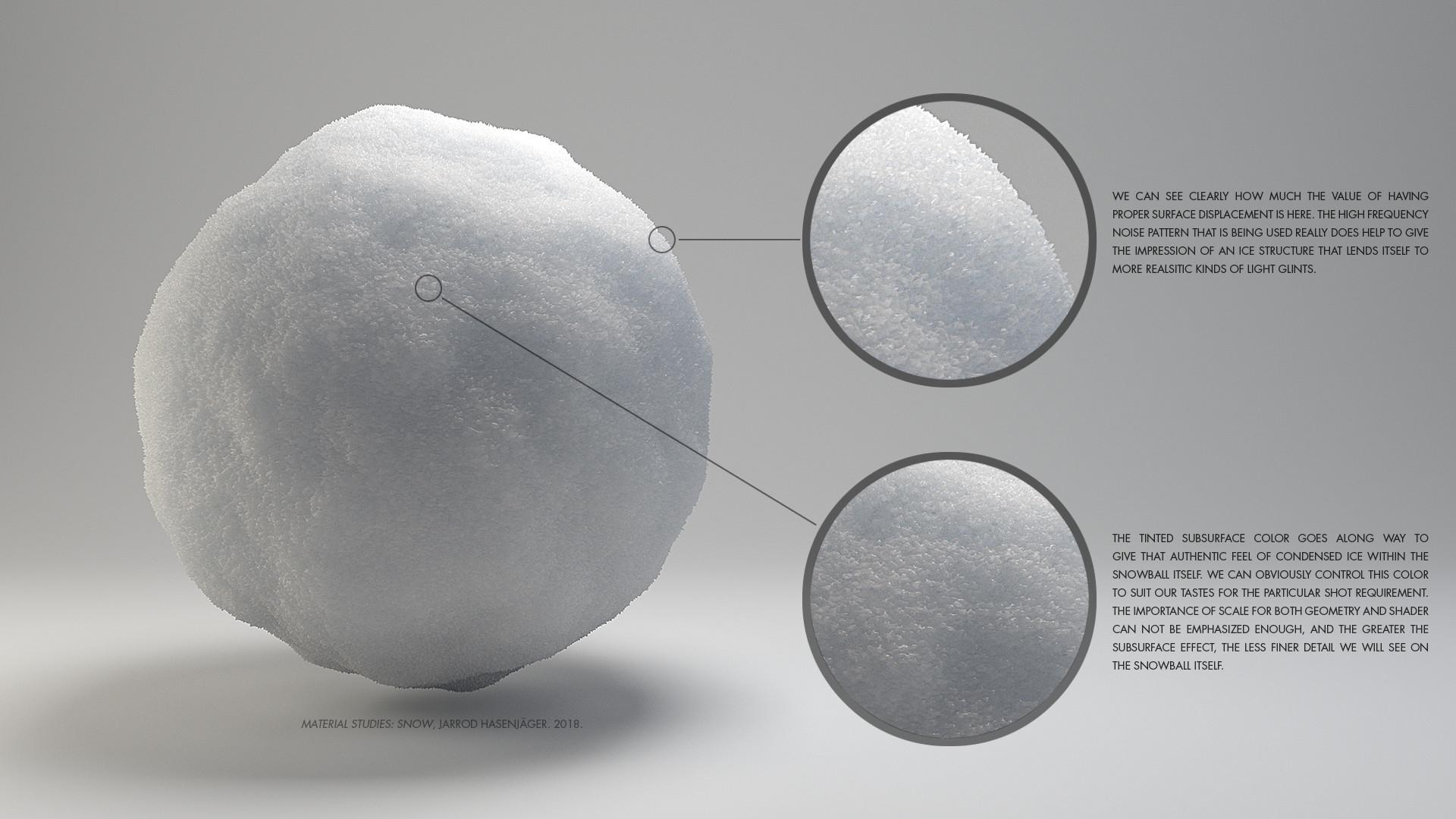 ArtStation - Material Studies: Snow, Jarrod Hasenjäger