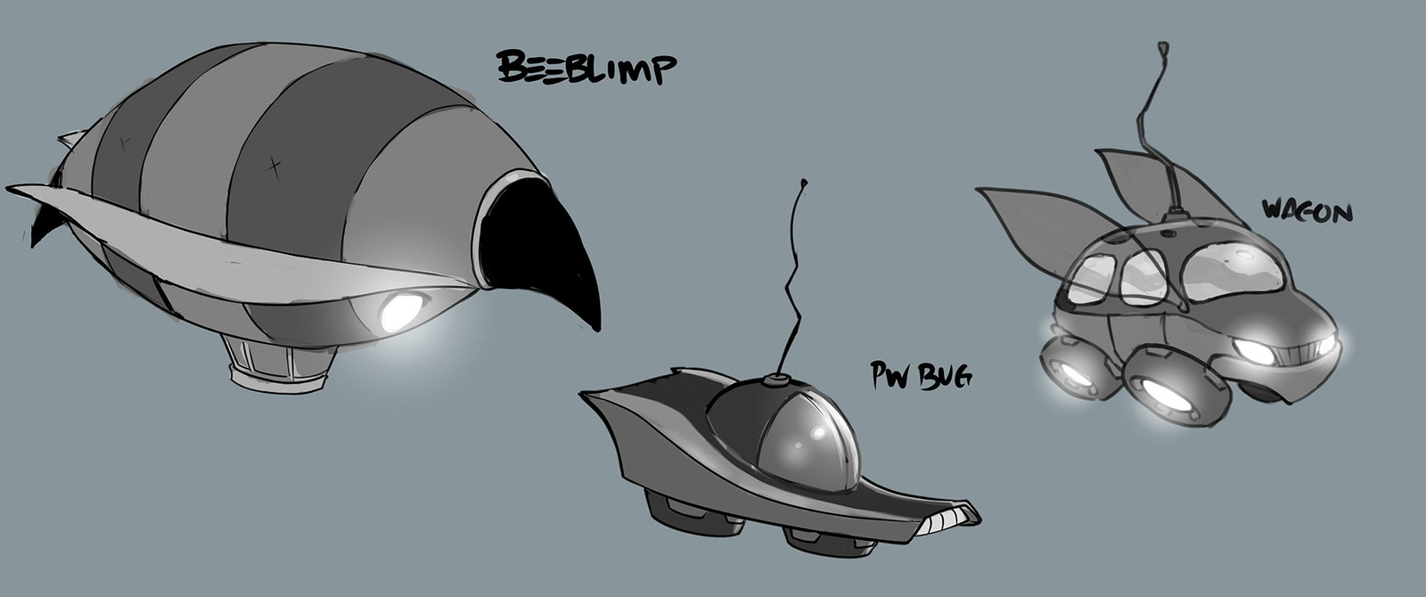 Vehicle concepts for set dressing.