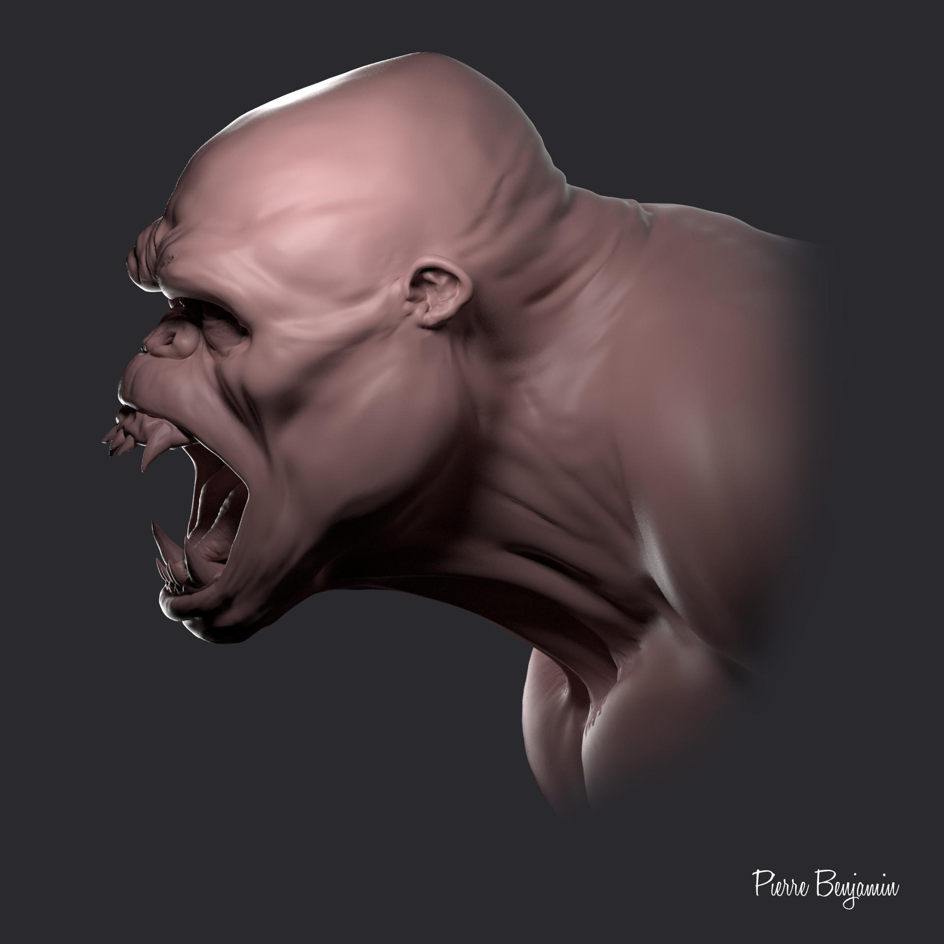 Pierre benjamin gorilla new maya arnold render ps