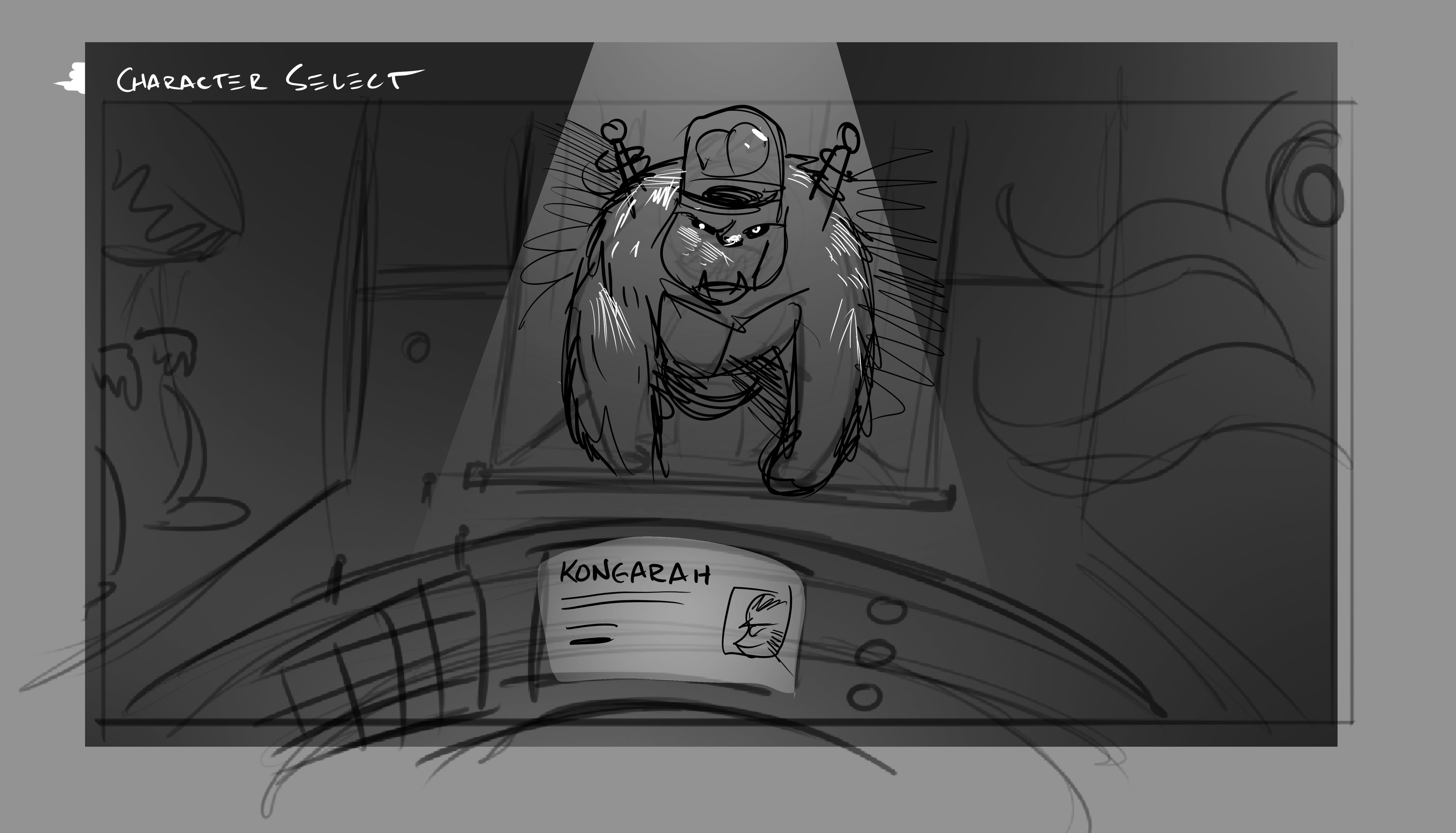 Early start screen concepts - Selecting your monster