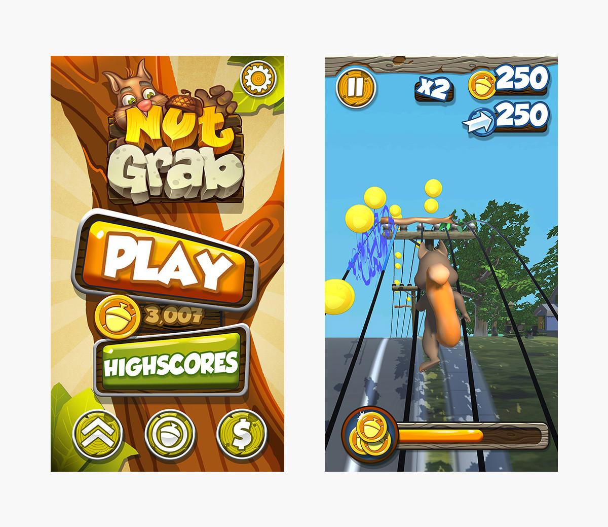 artstation mobile game ui nutgrab punchev com