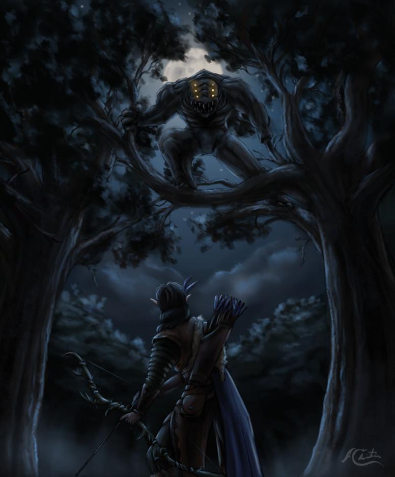 Christian hadfield fantasy art the grey hunt by christian hadfield wip5