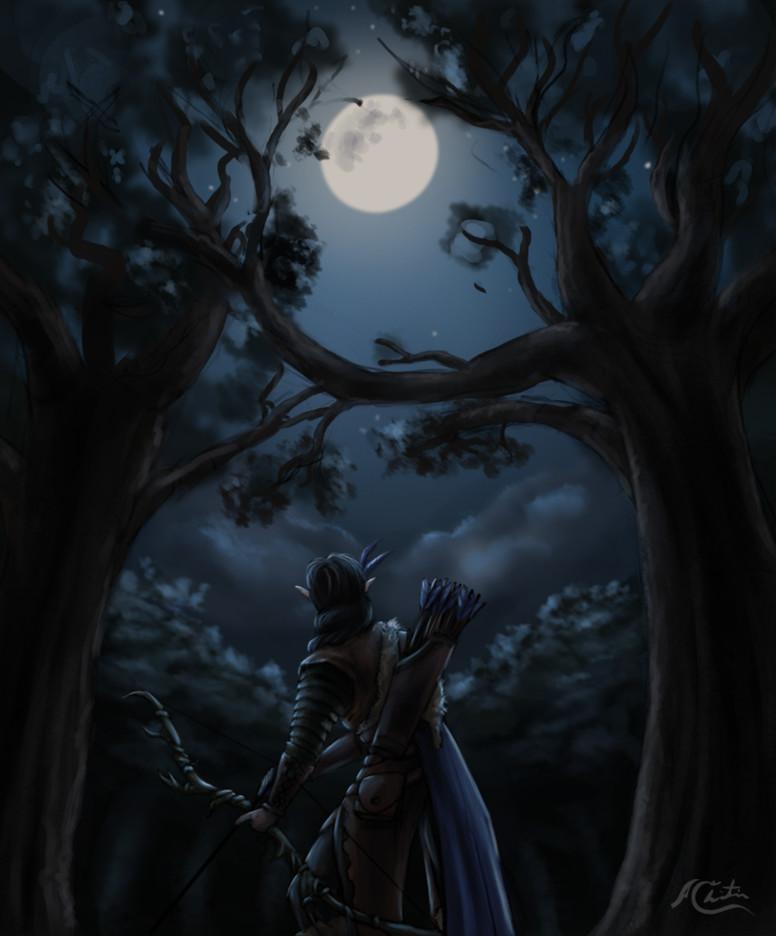 Christian hadfield fantasy art the grey hunt by christian hadfield wip3