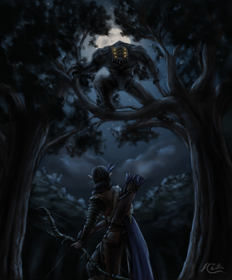 Christian hadfield fantasy art the grey hunt by christian hadfield wip4
