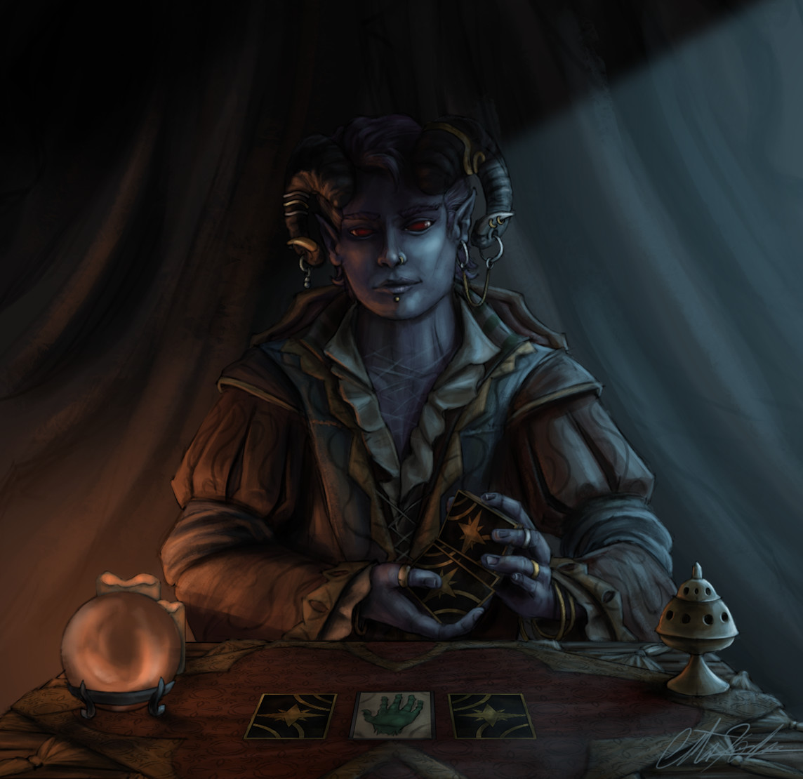 Christian hadfield dnd criticalrole molly tarot reader wip4