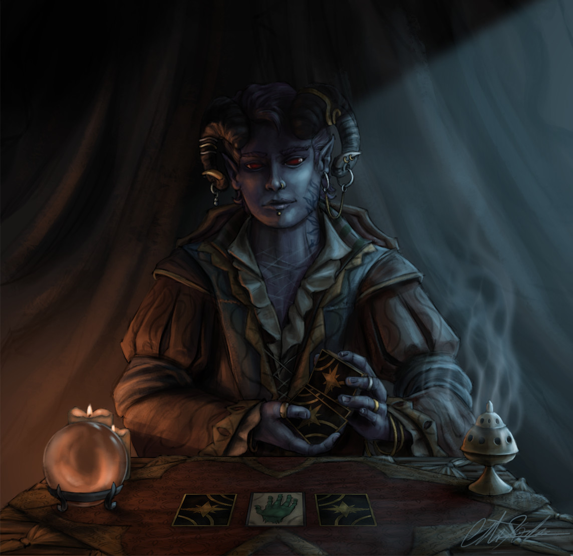 Christian hadfield dnd criticalrole molly tarot reader by christian hadfield