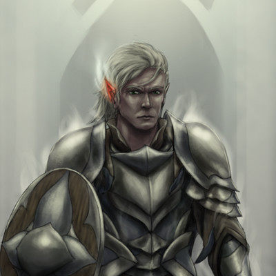Christian hadfield dnd carric berevan the high elf forge cleric by christian hadfield