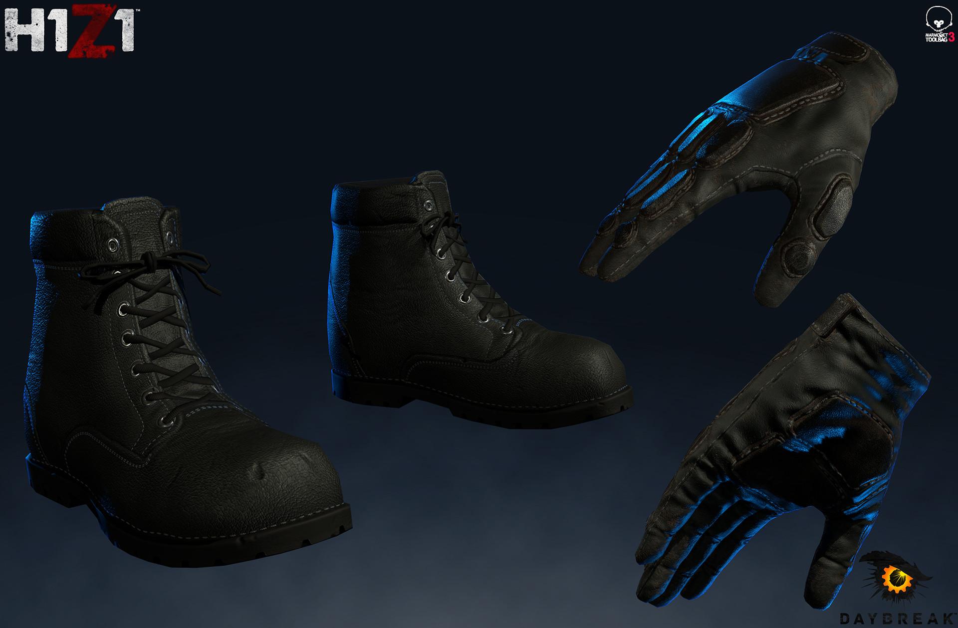 Satoshi arakawa gloves boots