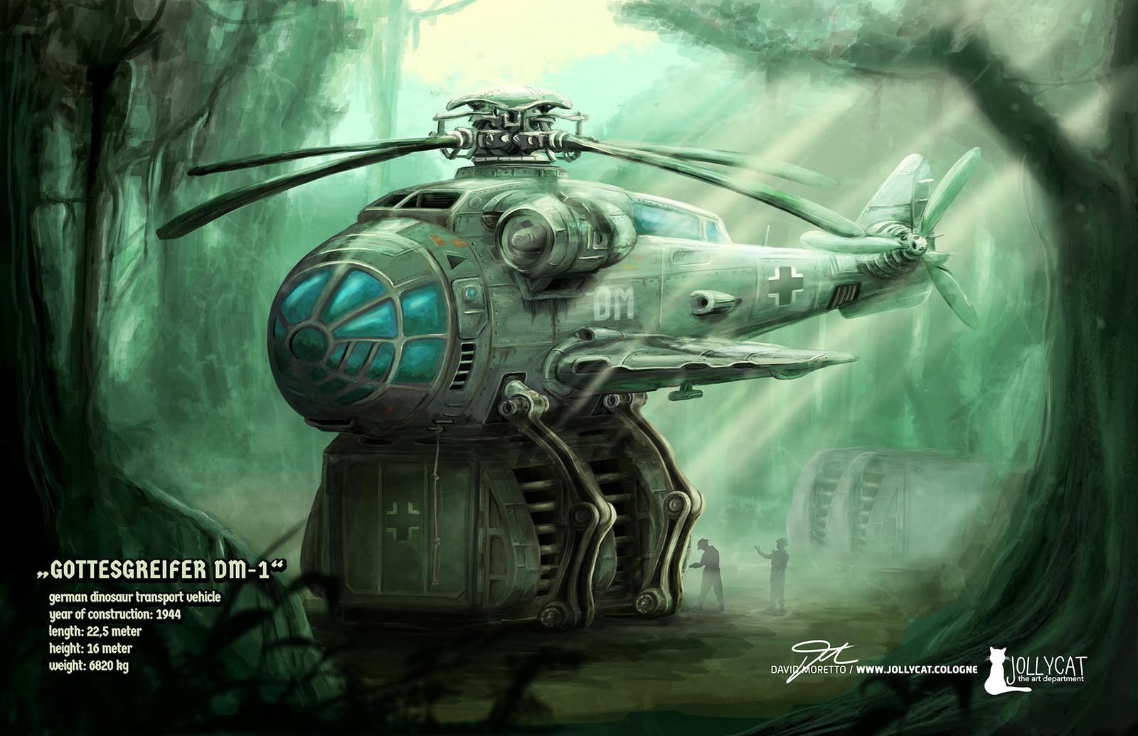 """final concept art """"GOTTESGREIFER DM-1"""