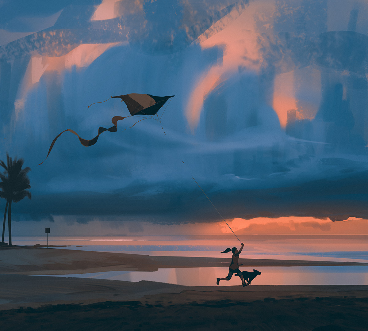 Atey ghailan flying a kite by snatti89 dc6chog