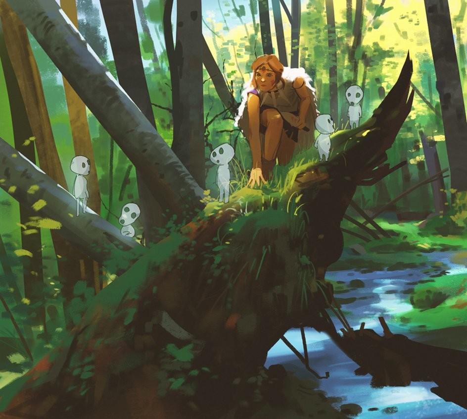 Atey ghailan princess mononoke by snatti89 dc51d76